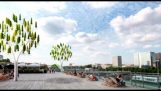 Wind Tree uses micro turbine leaves to generate electricity