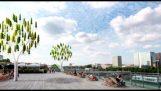 Albero di vento utilizza foglie di micro turbina per generare elettricità