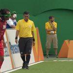 Le score aveugle match de football à Rio