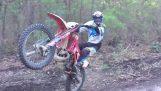 मोटरसाइकिल क्रॉस के साथ 360 ° घुमाएँ