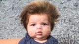 Ένα πολύ τριχωτό μωρό