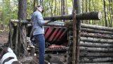 Κατασκευάζοντας ένα καταφύγιο στο δάσος