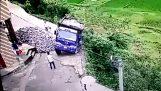Driver escapes last time by truck in Escarpment