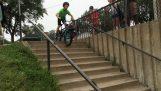 Αποτυχημένο ακροβατικό με το ποδήλατο