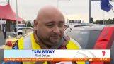 chauffeur de taxi grec à Melbourne station de télévision trolarei