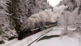 Локомотив у горах Румунії