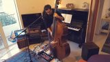 "The ""The Man Who Sold The World"" on double bass"