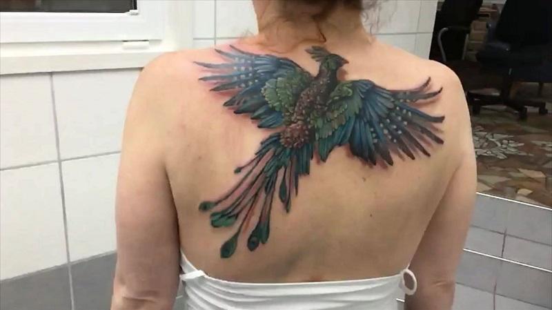 Tatuagens 3D feminina Desenhos de bichos em 3Dnas costas
