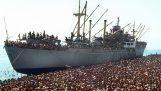 1991: 20 χιλιάδες Αλβανοί μετανάστες καταλαμβάνουν το εμπορικό πλοίο Vlora