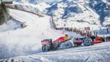 Formula 1 car in the snow