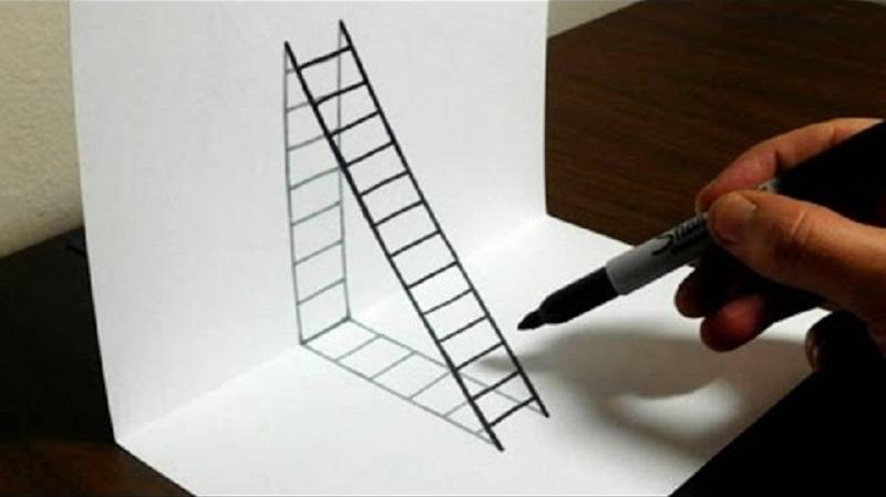 Comment Dessiner Une échelle En Trois Dimensions