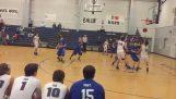Το πιο απίθανο καλάθι σε αγώνα μπάσκετ