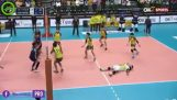 The best defense in volleyball match