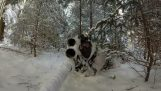 Airsoft: Battle in a snowy forest