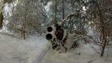 Airsoft: Μάχη σε ένα χιονισμένο δάσος