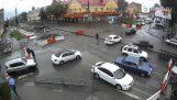 Travailleurs russes arrêter la circulation
