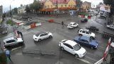 Los trabajadores rusos detener el tráfico