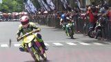 Gräl mellan motorcyklister i Indonesien