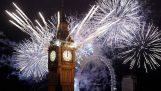 Фойерверки Нова Година в Лондон