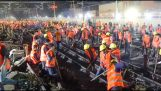 Construcción de una estación de ferrocarril en tan sólo 9 horas (China)