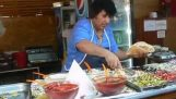 रोमानिया में कबाब विक्रेता