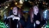 Two girls in sling coaster