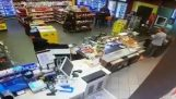 "Robber: ""Opened the register!"" – Employee: ""No, I am busy!"""
