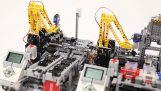 A car factory from Lego
