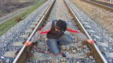 Charge a mobile phone on the train Rails