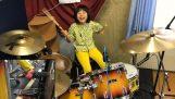 Ένα κορίτσι 8 ετών από την Ιαπωνία παίζει Led Zeppelin στα ντραμς