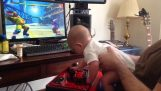 A baby six months finishing the Street Fighter