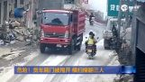 Unlikely accident in China