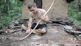 ทำคันธนูและลูกศรเครื่องมือดั้งเดิม