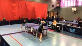 Impressive excerpt from a children's ping pong match