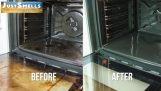 Un trucco semplice per la pulizia del forno