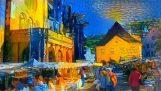 Художественный стиль для известных живописцев передаются видео