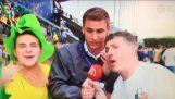 爱尔兰球迷反对匈牙利记者