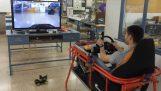 Simulator de masina controlat de la distanţă