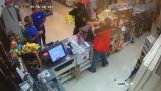 Store clerk disarms robber