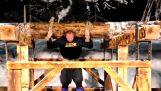 Το «βουνό» σηκώνει έναν κορμό 640 κιλών