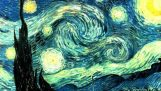 """ऑप्टिकल भ्रम के साथ """"तारों से जड़ा रात"""" वान गाग के"""