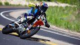Ogromny skok z motocross