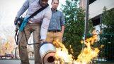 Χρήση ηχητικών κυμάτων για την κατάσβεση φωτιάς