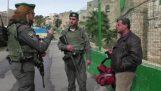 यहूदियों और फिलिस्तीनियों के लिए विभाजन हेब्रोन की मुख्य गली में