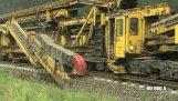 Автоматическая машина для строительства железных дорог