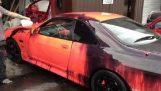 Θερμοευαίσθητο χρώμα σε ένα Nissan Skyline