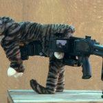 Όπλο με καμουφλάζ γάτας