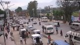 The time of the great earthquake in Kathmandu Street