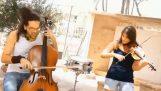 """""""Il kagkelia"""" con violino e violoncello"""