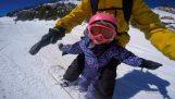Snowboarding με τον μπαμπά